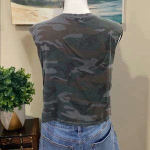 Truly Madly Deeply Tops - Truly Madly Deeply camo print crop top
